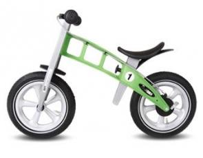odrážedlo First bike Racing green / zelená