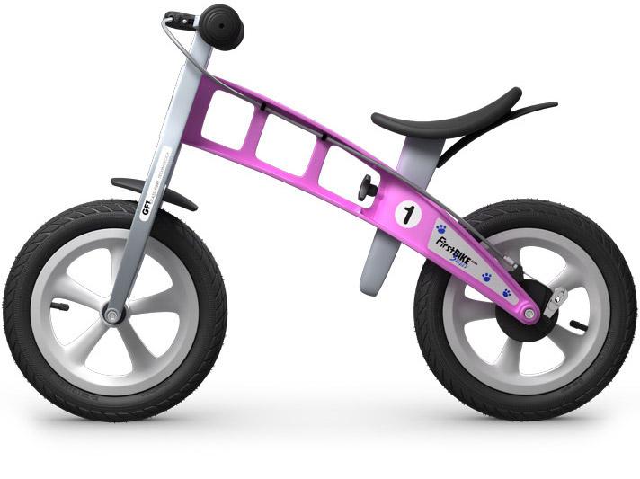 odrážedlo First bike růžová / pink