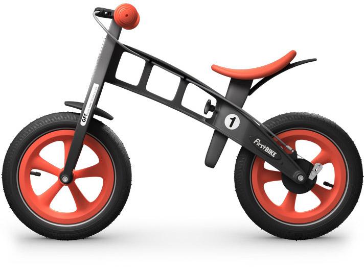 odrážedlo First bike limitovaná edice orange / oranžová