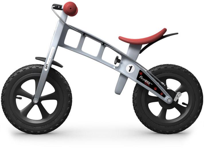 odrážedlo First bike cross silver / stříbrná