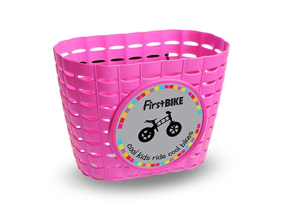 First bike - košík růžový