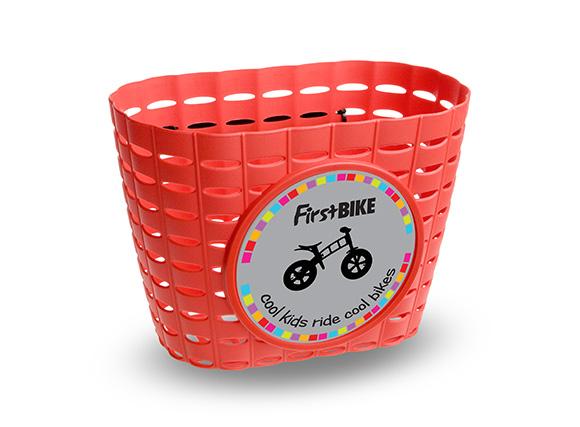 First bike - košík červený