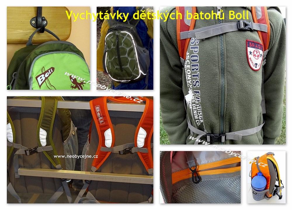 Vychytávky dětských batohů Boll, www.neobycejne.cz
