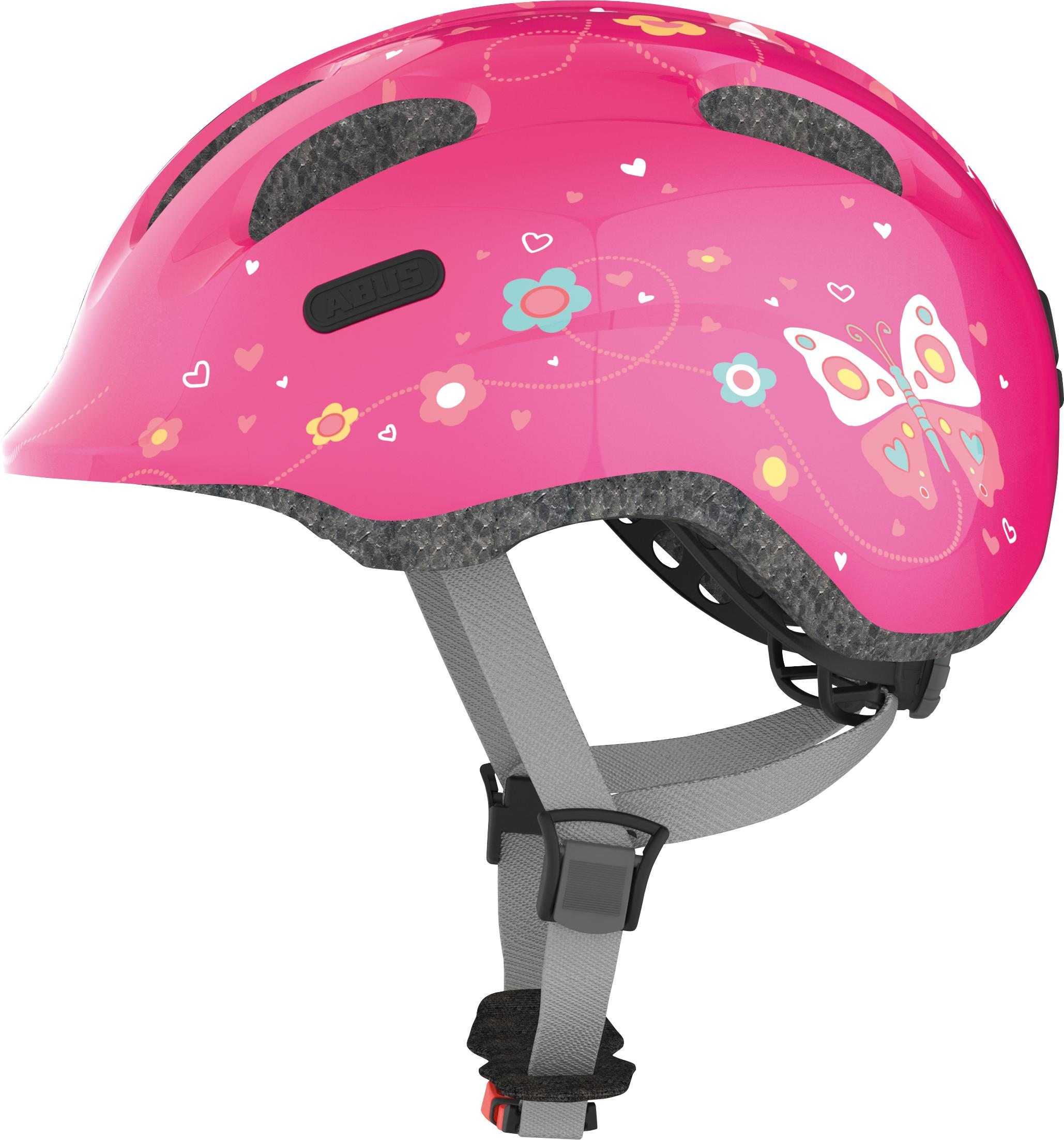 Helma Abus Smiley - pink butterfly - S