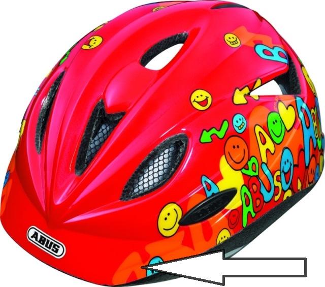 integrovaný štítek - helma Abus