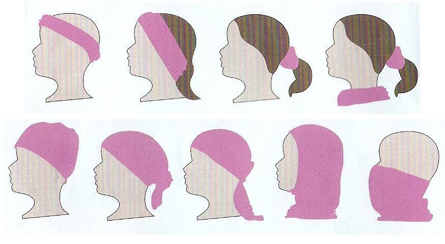 multifunkční šátek - jak vázat