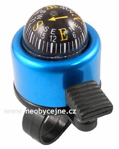 zvonek kompas modrý